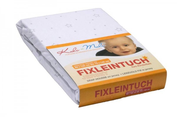 Fixleintuch Jersey 90/45 Stern silber