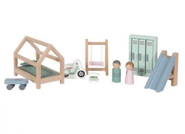Puppenhaus Spielset Kinderzimmer 12-teilig